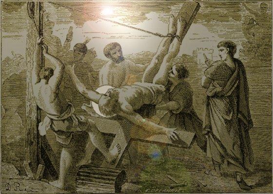 Tableau poétique des fêtes chrétiennes - Vicomte Walsh - 1843 - (Images et Musique chrétienne) PierreCrucifixion