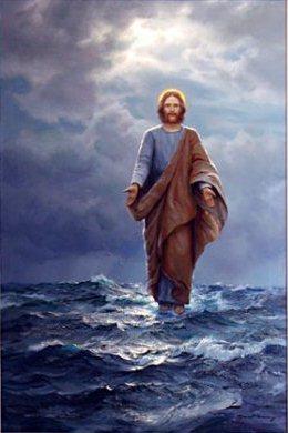 Jésus marche sur les eaux du lac de Tibériade